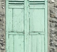 Mint Green Shutters, Giverny Sticker