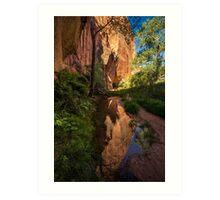 Coyote Gulch Canyon Reflection - Utah Art Print