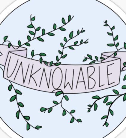 UNKNOWABLE Sticker