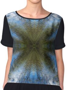 Blue Skies - A Meditative Photo Product Chiffon Top