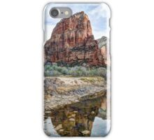 Angels Landing Reflected in Virgin River - Zion National Park iPhone Case/Skin