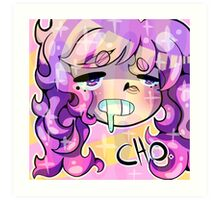 Curly Hair Art Print