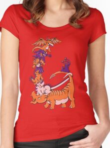 Dinosaur Dragons Women's Fitted Scoop T-Shirt