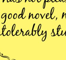 Jane Austen Quote Sticker