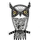 Owl black and white  by Casey Virata
