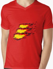 Feuer flamme feuerball agro formation  Mens V-Neck T-Shirt