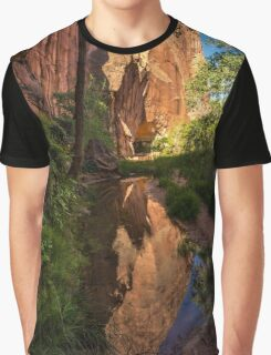 Coyote Gulch Canyon Reflection - Utah Graphic T-Shirt