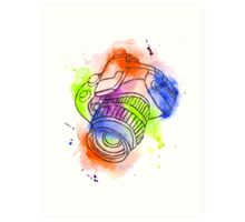 Camera Obscura Illustrative Watercolour Art Print
