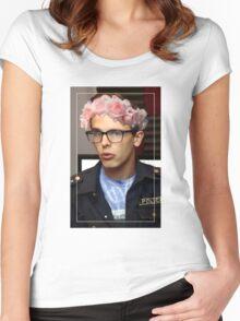 iDubbbzTV Flower Crown Women's Fitted Scoop T-Shirt
