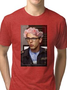 iDubbbzTV Flower Crown Tri-blend T-Shirt