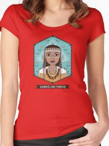 Native American - Gabrielino Tongva Tribe Women's Fitted Scoop T-Shirt