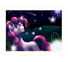 Pinkie's party lights Art Print