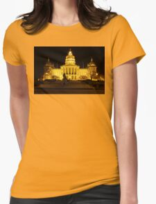 Iowa State Capitol Building Front (Night) Womens Fitted T-Shirt
