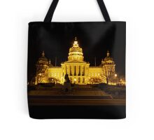 Iowa State Capitol Building Front (Night) Tote Bag
