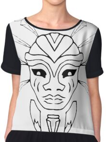 Crystal Huntress Lines Chiffon Top