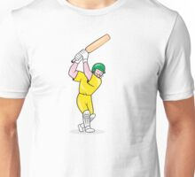 Cricket Player Batsman Batting Cartoon Unisex T-Shirt