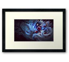 Ahri Splash Art Framed Print