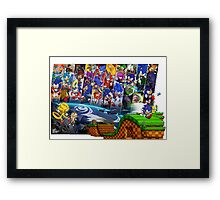20 Years of Sonic Framed Print