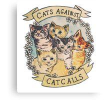 CATS AGAINST CATCALLS TUMBLR Canvas Print