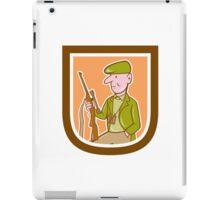 Hunter Holding Rifle Shield Cartoon iPad Case/Skin