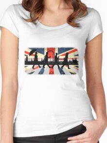 221B Abbey Road (Version One) Women's Fitted Scoop T-Shirt