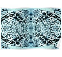 Snow Tunnel Reflections - Meditative Pattern Poster