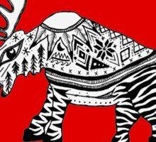 Hooper- red sweater Moose Sticker