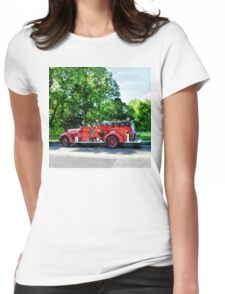 Fire Engine Womens Fitted T-Shirt