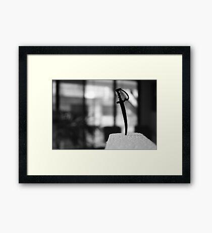 Baby Sword Framed Print