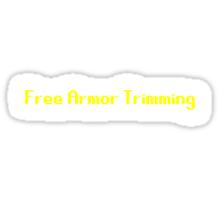 Trimming Sticker