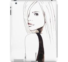 A Touch Of Pink Illustration Portrait Painting iPad Case/Skin