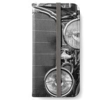 1933 Buick Series 50 Coupe Close-up - Black And White iPhone Wallet/Case/Skin