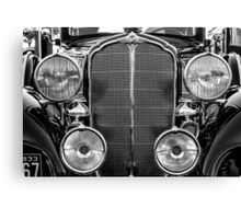1933 Buick Series 50 Coupe Close-up - Black And White Canvas Print