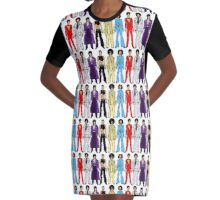 Retro Vintage Fashion 16 Graphic T-Shirt Dress