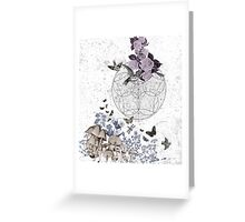 astrological garden party Greeting Card