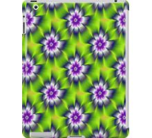 Green Blue and Violet Daisy Flower tiled iPad Case/Skin