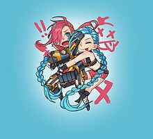 Jinx and Vi by StaCepu