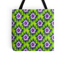 Green Blue and Violet Daisy Flower tiled Tote Bag
