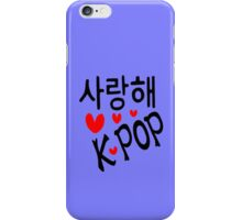 I LOVE KPOP in Korean language txt hearts vector art  iPhone Case/Skin