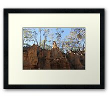 Rock formation at Golden Gully Framed Print