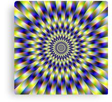 Concentric Rings in Blue and Yellow Canvas Print