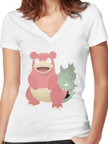 Slowbro Women's Fitted V-Neck T-Shirt