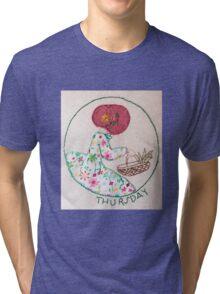 Thursday's Market Day Bonnet Lady Tri-blend T-Shirt