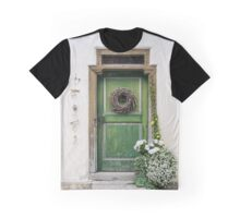 Rustic Wooden Village Door - Austria Graphic T-Shirt