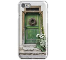 Rustic Wooden Village Door - Austria iPhone Case/Skin