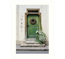 Rustic Wooden Village Door - Austria Art Print