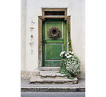 Rustic Wooden Village Door - Austria Photographic Print