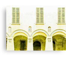 Fognano: arch and windows Canvas Print