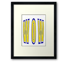 BIG WOW - products Framed Print