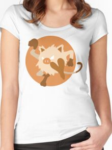 Mankey - Basic Women's Fitted Scoop T-Shirt